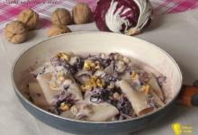 Pasta radicchio e noci, ricetta semplice