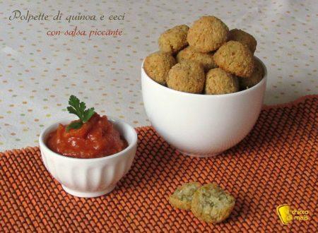 Polpette di quinoa e ceci con salsa piccante, ricetta