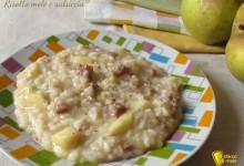 Risotto mele e salsiccia, ricetta