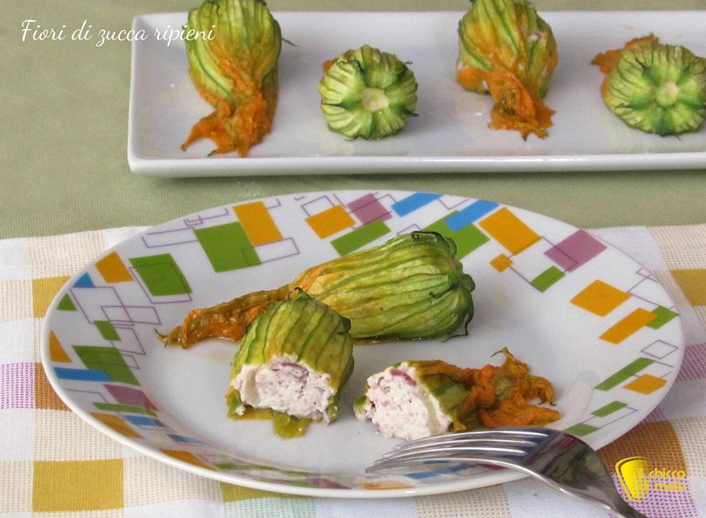 fiori di zucca ripieni al forno ricetta il chicco di mais