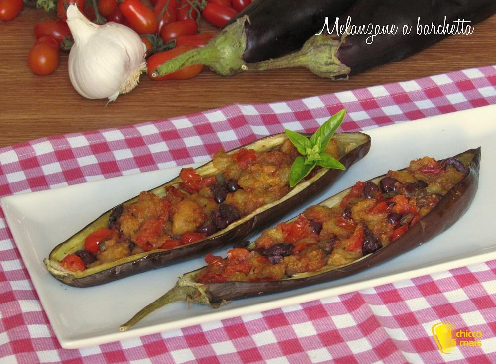ricette con melanzane Melanzane a barchetta ricetta barchette di melanzane con pomodorini olive il chicco di mais
