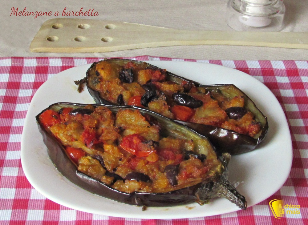 antipasti freddi melanzane a barchetta ricetta tradizionale il chicco di mais