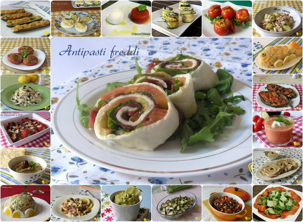 Antipasti freddi ricette facili veloci estive il chicco di mais for Ricette semplici cucina