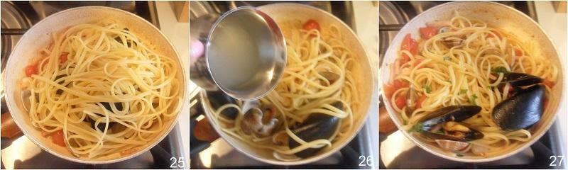 linguine allo scoglio ricetta passo passo il chicco di mais 9 mantecare la pasta