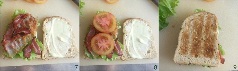 BLT sandwich ricetta panino americano con bacon lattuga pomodoro il chicco di mais 3 il sandwich è pronto