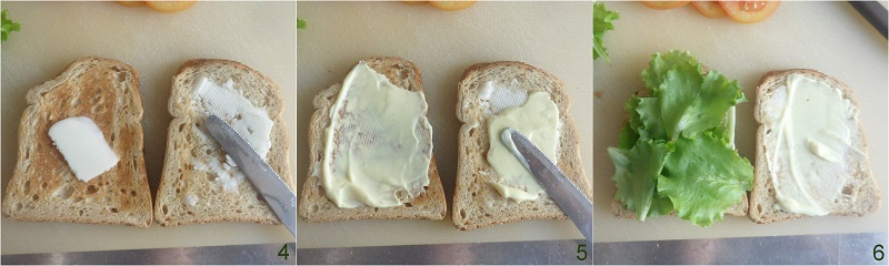 BLT sandwich ricetta panino americano con bacon lattuga pomodoro il chicco di mais preparare il sandwich