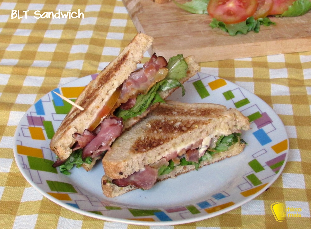 BLT sandwich ricetta panino americano con bacon lattuga pomodoro il chicco di mais