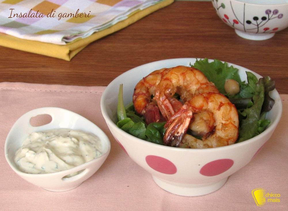antipasti di Natale Insalata di gamberi con salsa allo yogurt ricetta estiva il chicco di mais