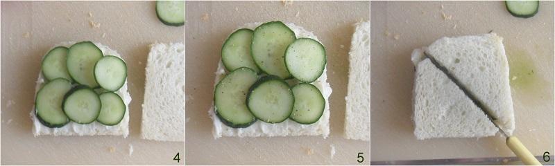 Sandwich al cetriolo ricetta inglese per il tè il chicco di mais 2 comporre il tramezzino