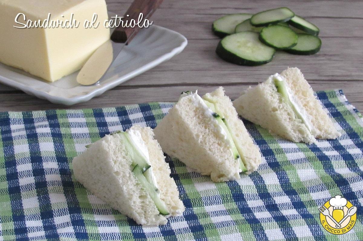 Sandwich al cetriolo ricetta inglese tramezzini da servire con il tè il chicco di mais