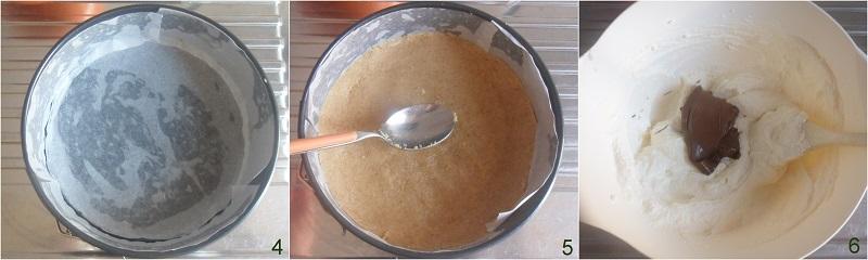 cheesecake alla nutella senza colla di pesce ricetta veloce il chicco di mais 2 formare la base