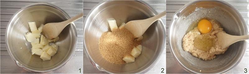 cookies al cocco e gocce di cioccolato ricetta americana il chicco di mais 1 lavorare burro e zucchero