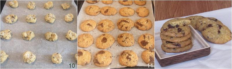 cookies al cocco e gocce di cioccolato ricetta americana il chicco di mais 4 cuocere i biscotti
