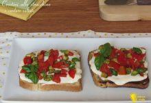 Crostini allo stracchino e verdure saltate