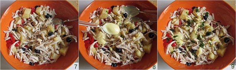 insalata di pollo e patate ricetta estiva il chicco di mais 3 condire l'insalata di pollo