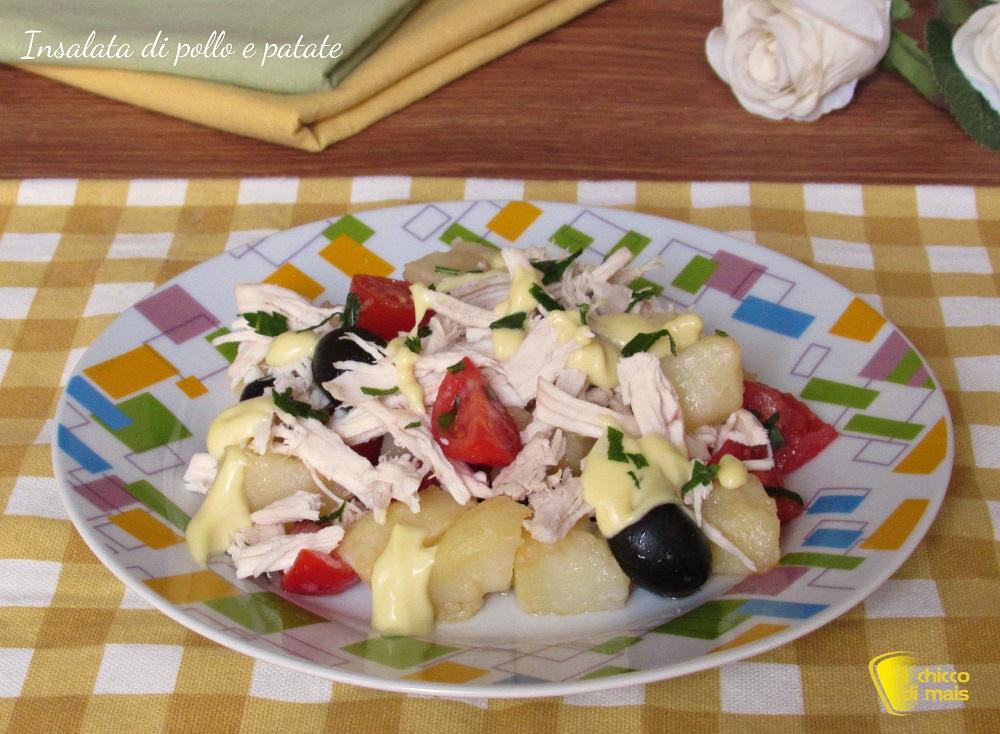 insalata di pollo e patate ricetta estiva il chicco di mais