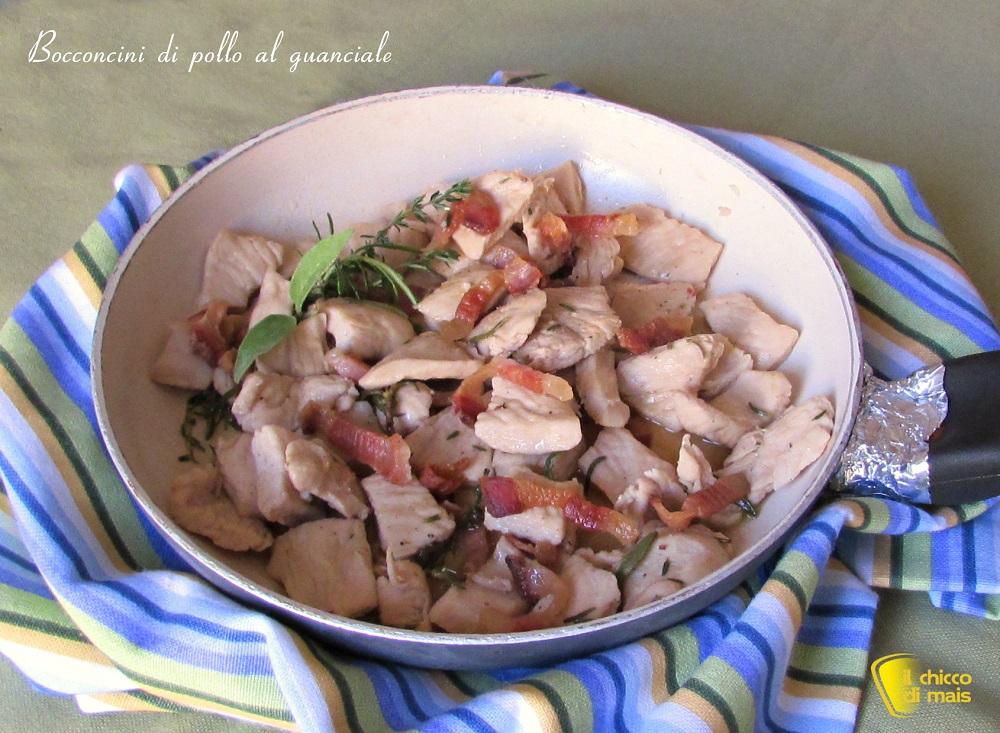 Bocconcini di pollo al guanciale ricetta veloce il chicco di mais