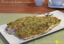 Pesce in crosta di zucchine e patate