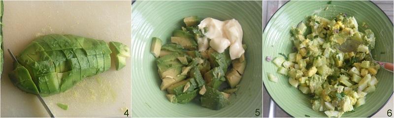 insalata di uova con avocado cremoso ricetta estiva il chicco di mais 2 comporre l'insalata