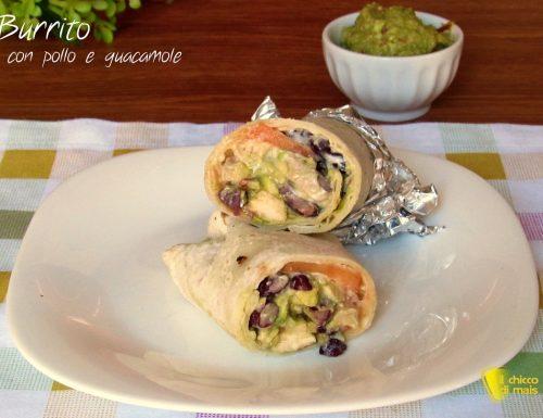 Burrito con pollo e guacamole