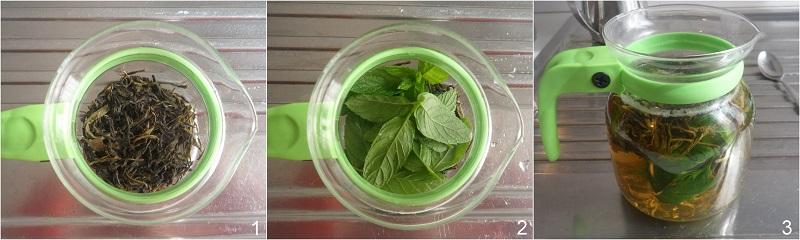 tè alla menta ricetta the verde alla menta freddo o caldo il chicco di mais 1 il tè in infusione
