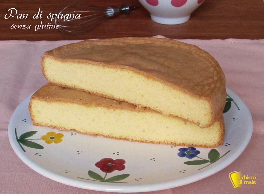 Pan di spagna senza glutine ricetta con farine naturali di rso pds glutenfree che non si sbriciola il chicco di mais