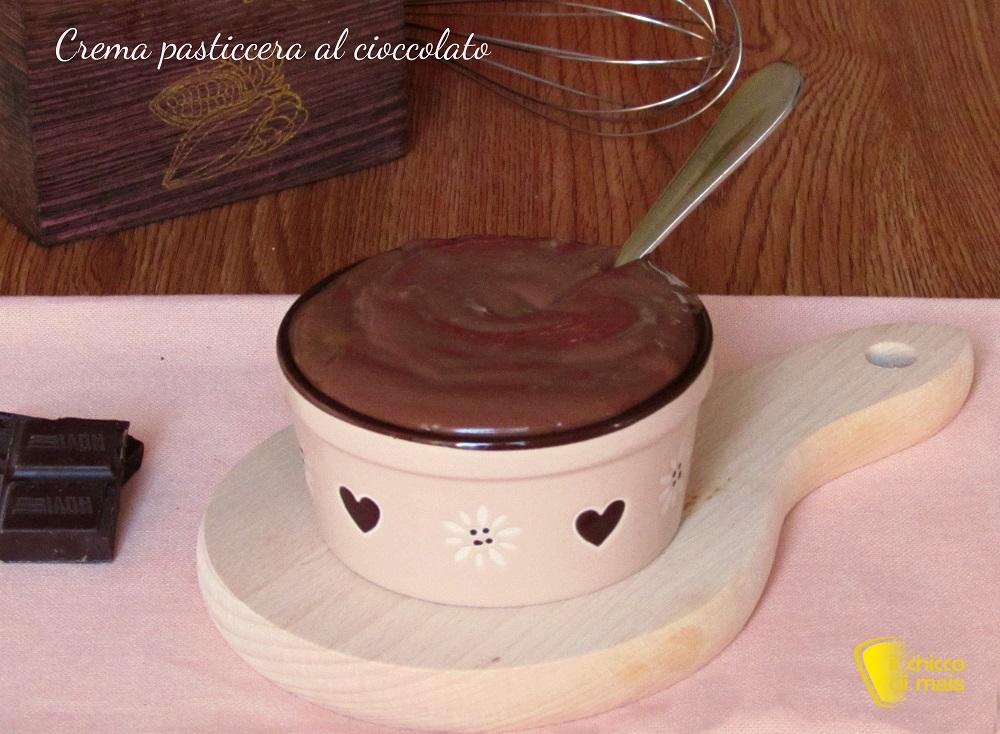 crema pasticcera al cioccolato per farcire torte ricetta il chicco di mais