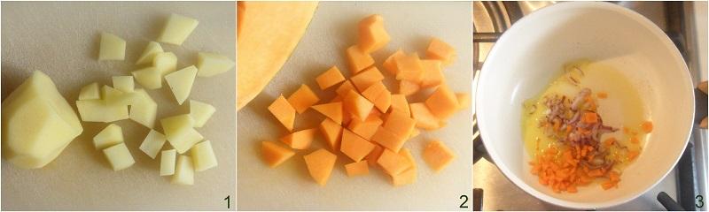 pasta patate e zucca ricetta minestra-densa-autunnale-il-chicco-di-mais-1-tagliare-patate-e-zucca