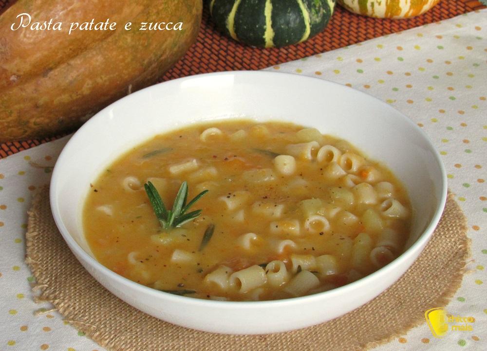 ricette con la zucca pasta patate e zucca