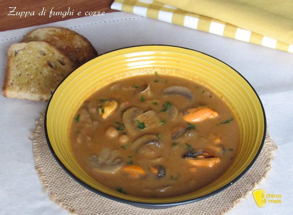 ricette con funghi facili e veloci zuppa di funghi e cozze con ceci ricetta autunnale il chicco di mais