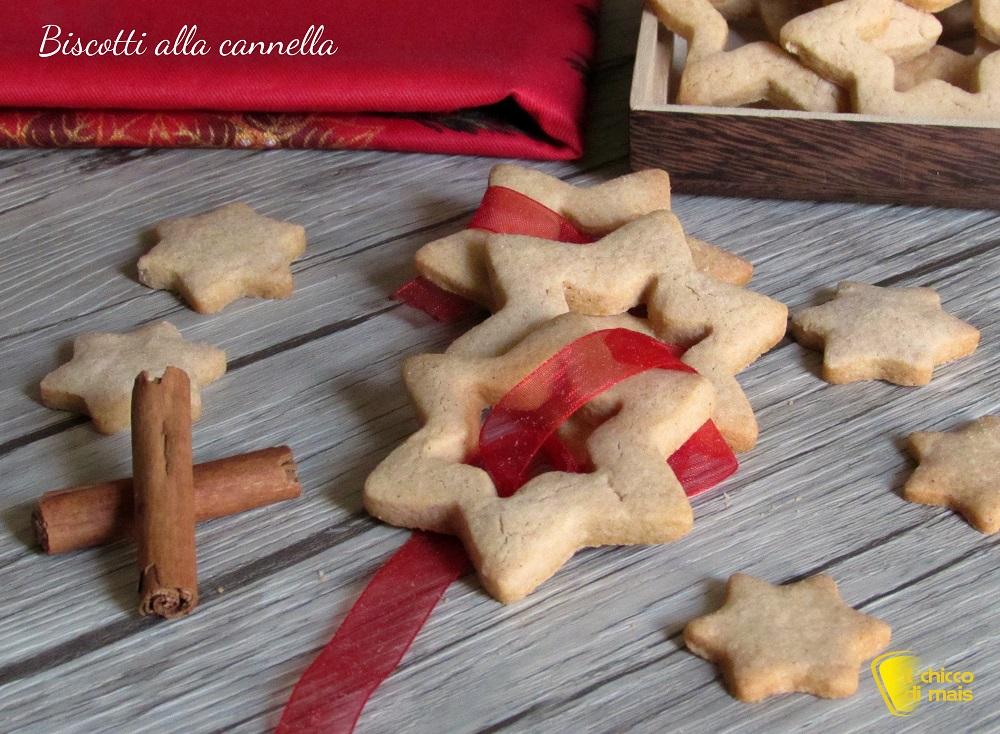 dolci di natale Biscotti alla cannella ricetta biscotti facili anche senza glutine a stella il chicco di mais