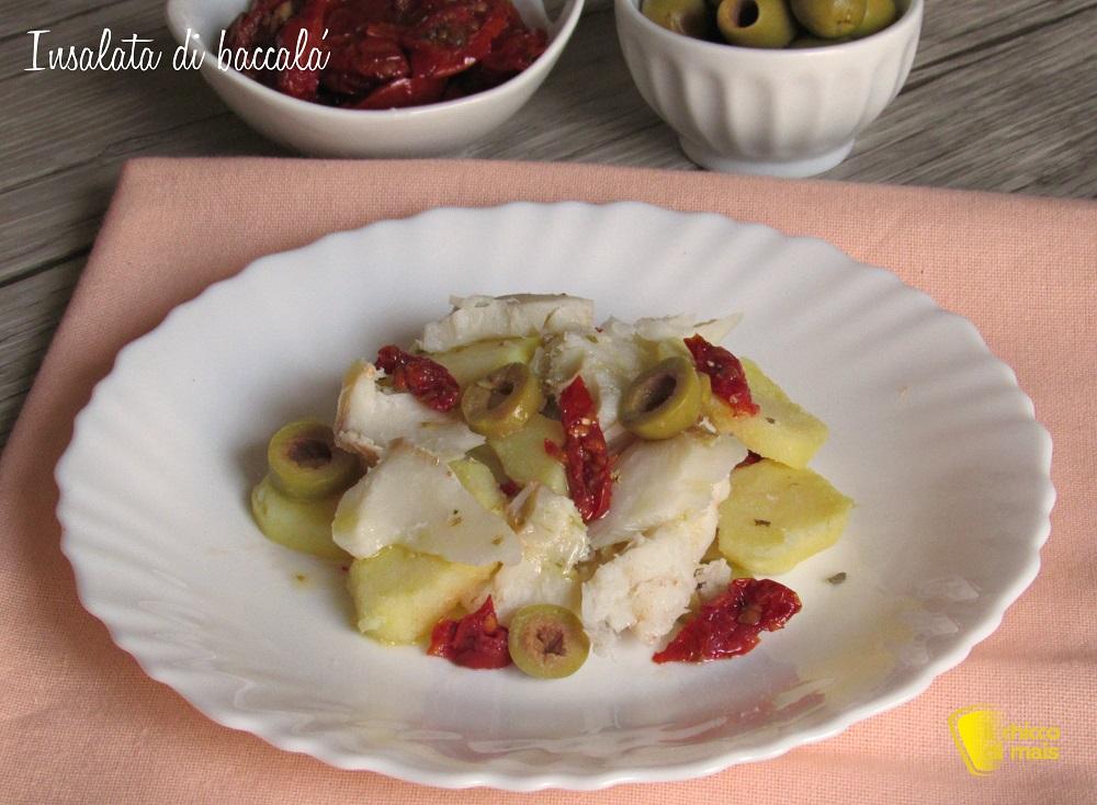Insalata di baccalà e patate ricetta facile antipasto per natale o capodanno di pesce economico il chicco di mais
