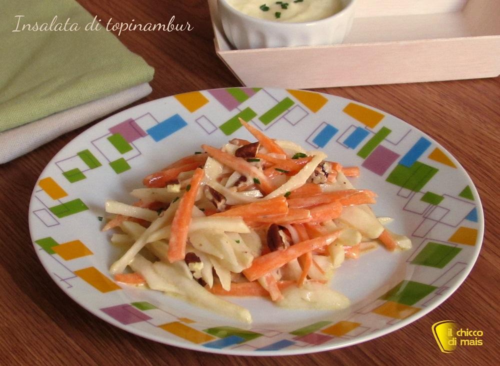 Insalata di topinambur ricetta leggera con maionese vegan il chicco di mais