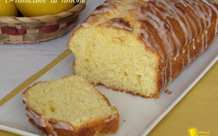Plumcake al limone glassato senza burro