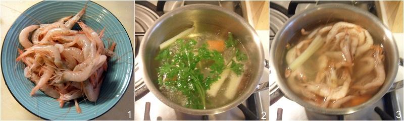 zuppa di gamberi ricetta raffinata il chicco di mais 1 lessare i gamberi
