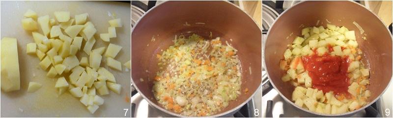 zuppa di gamberi ricetta raffinata il chicco di mais 3 soffriggere le verdure