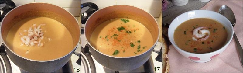 zuppa di gamberi ricetta raffinata il chicco di mais 6 unire i gamberi