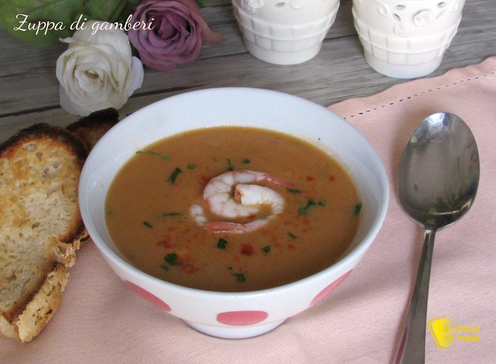 zuppa di gamberi ricetta raffinata il chicco di mais