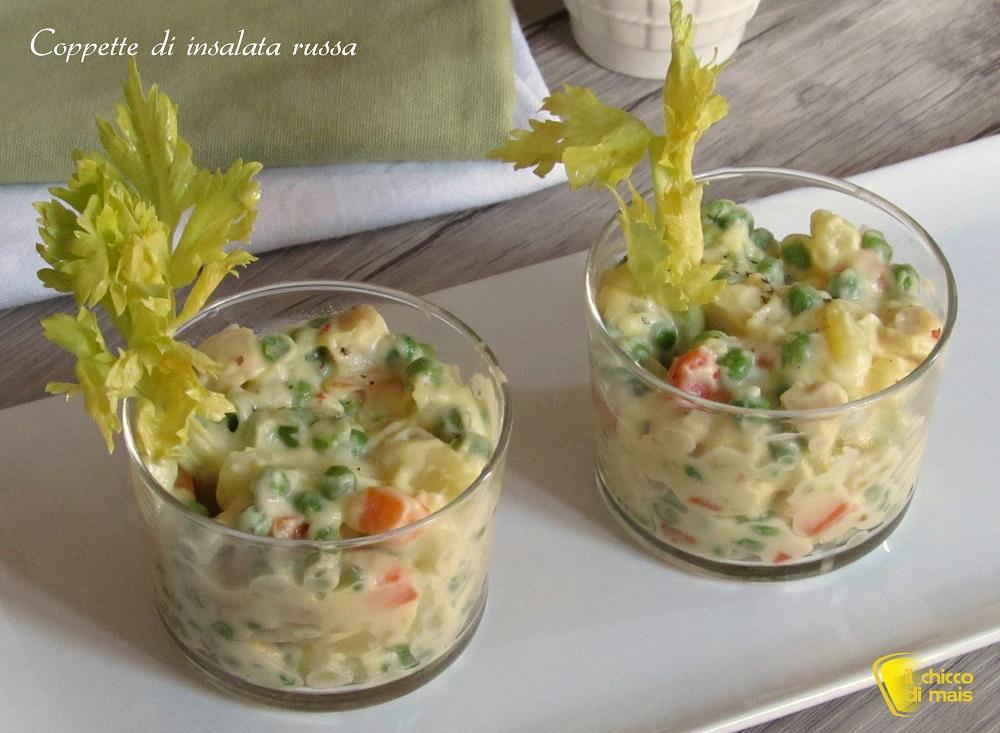 5 modi per servire l'insalata russa 2 coppette monoporzione ricetta il chicco di mais