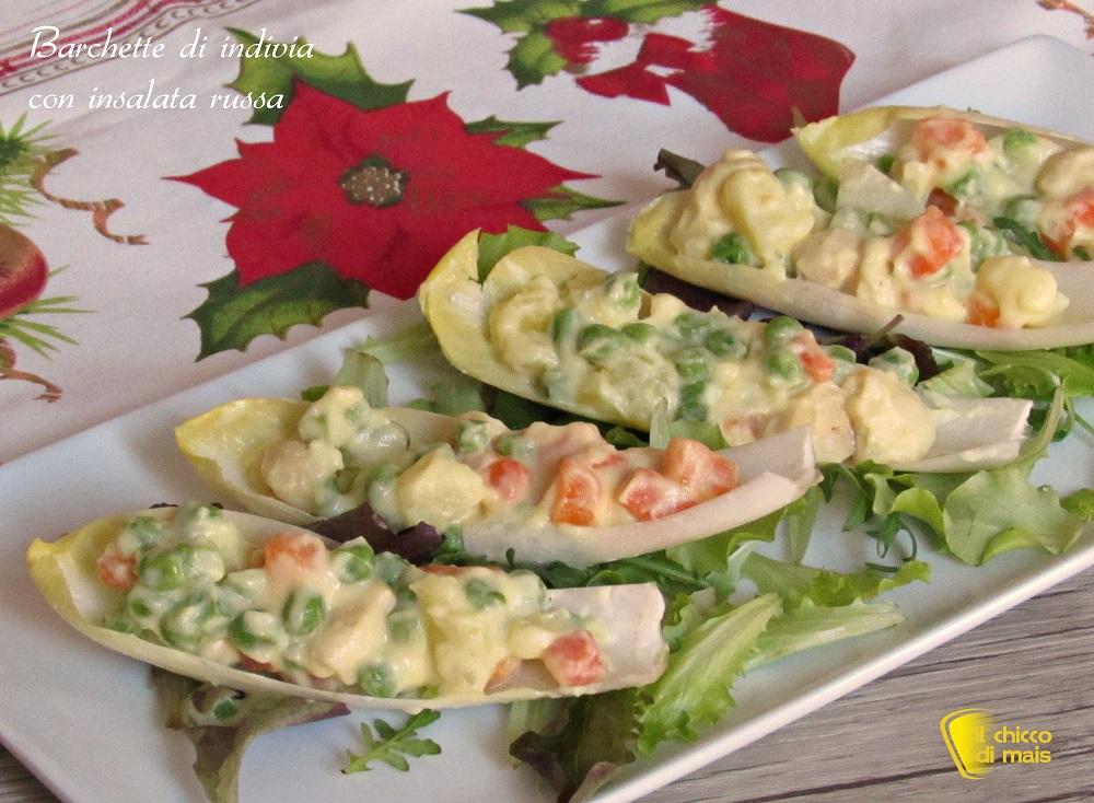 5 modi per servire l'insalata russa 3 barchette di indivia ricetta il chicco di mais