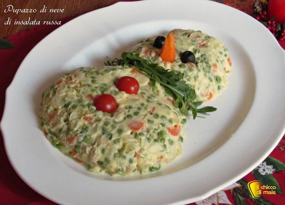 5 modi per servire l'insalata russa 5 pupazzo di neve ricetta il chicco di mais