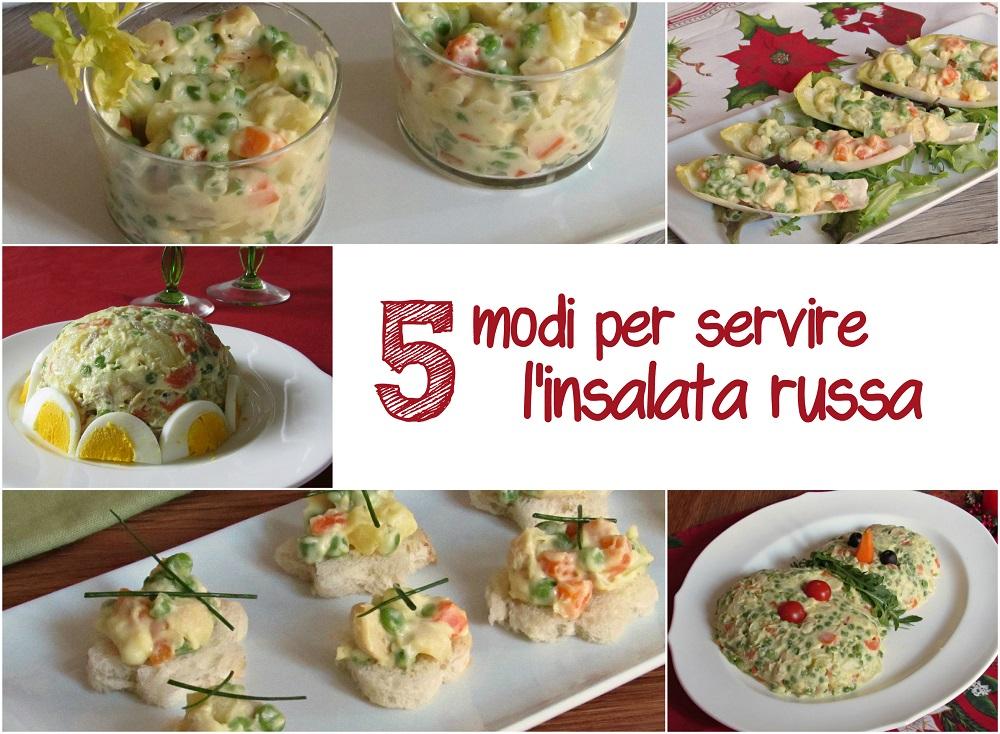 5 modi per servire l'insalata russa ricetta idee facili scenografiche il chicco di mais
