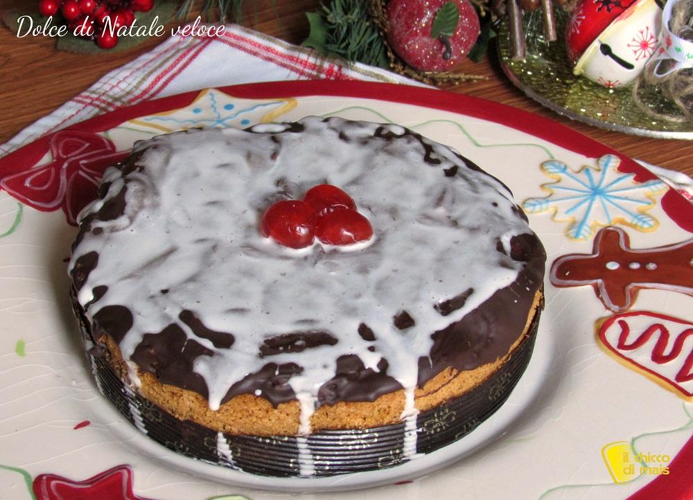 i dolci di natale dolce di natale veloce ricetta facile torta natalizia al cioccolato glassata il chicco di mais