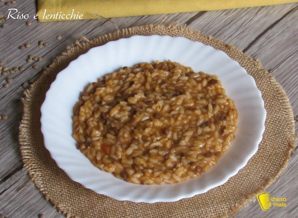 riso e lenticchie ricetta risotto senza burro per usare lenticchie cotte avanzate il chicco di mais
