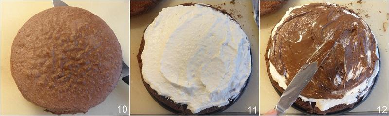 torta pinguino ricetta torta kinder pinguì con cioccolato panna nutella il chicco di mais 4 farcire con nutella
