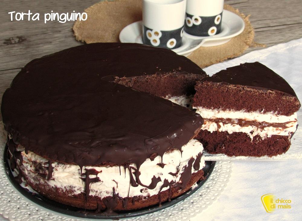 Torta pinguino ricetta facile torta al cioccolato farcita for Disegno pinguino colorato