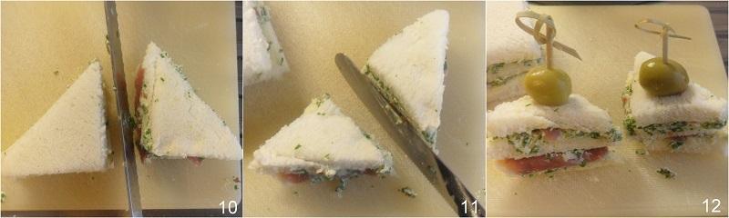 tramezzini sfiziosi fingerfood con prosciutto e formaggio alla rucola ricetta antipasto veloce buffet il chicco di mais 4 tagliare i mini club sandwi