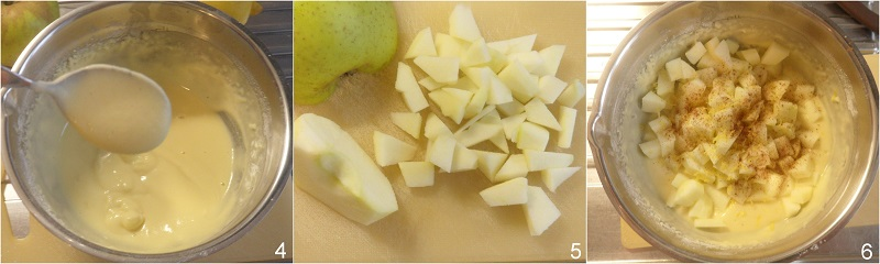 Frittelle di mele ricetta di carnevale frittelle soffici con mele a pezzi e farina di riso il chicco di mais 2 unire le mele a pezzetti
