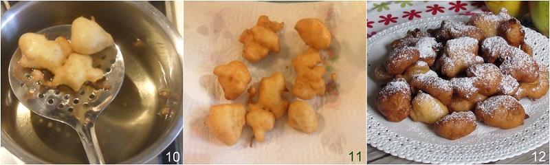 Frittelle di mele ricetta di carnevale frittelle soffici con mele a pezzi e farina di riso il chicco di mais 4 scolare le frittelle