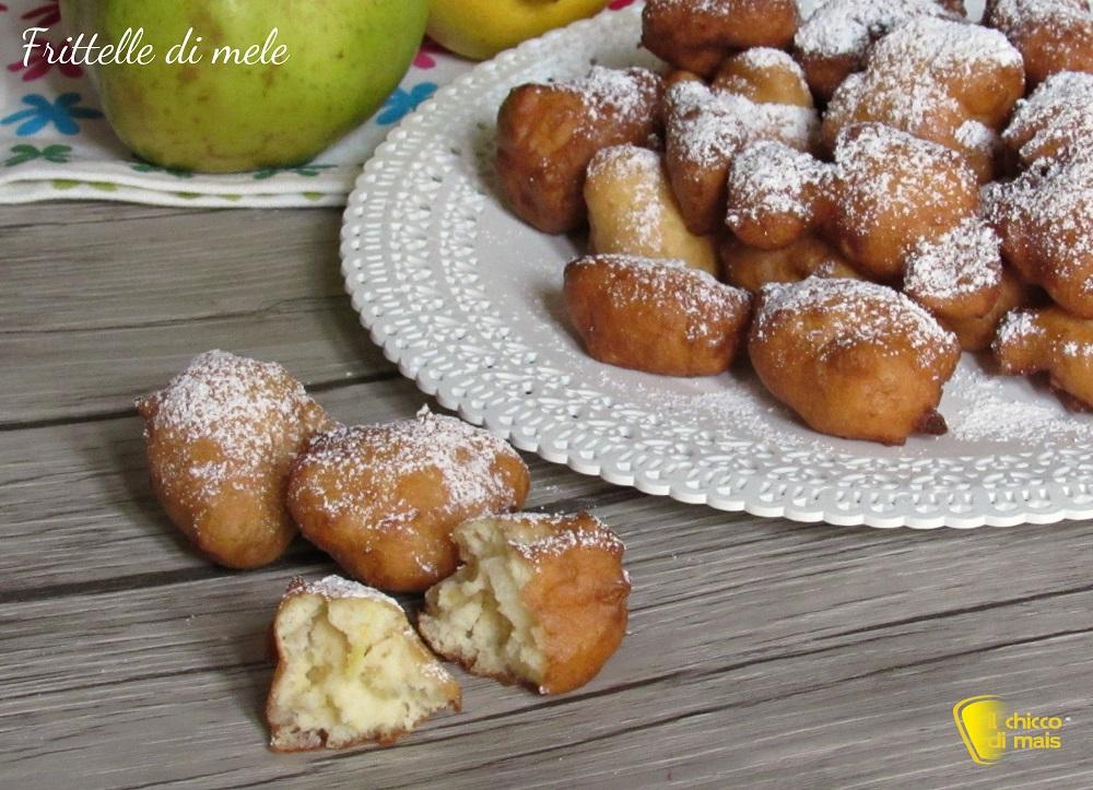 dolci di carnevale Frittelle di mele ricetta di carnevale frittelle soffici con mele a pezzi e farina di riso il chicco di mais